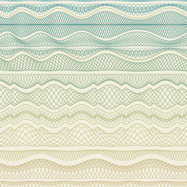 So many waves and lines in side by side patterns.